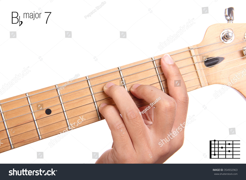 Royalty Free Bbmaj7 Major Seventh Keys Guitar 354932963 Stock