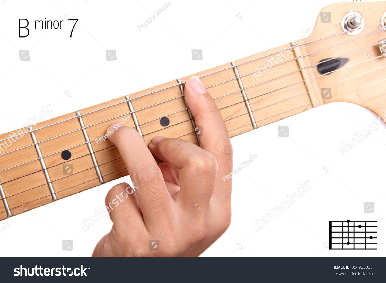 Royalty Free Bm7 Minor Seventh Keys Guitar 354933038 Stock Photo