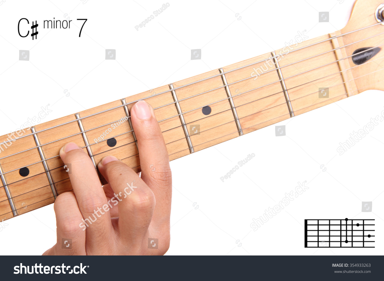 Royalty Free Cm7 Minor Seventh Keys Guitar 354933263 Stock