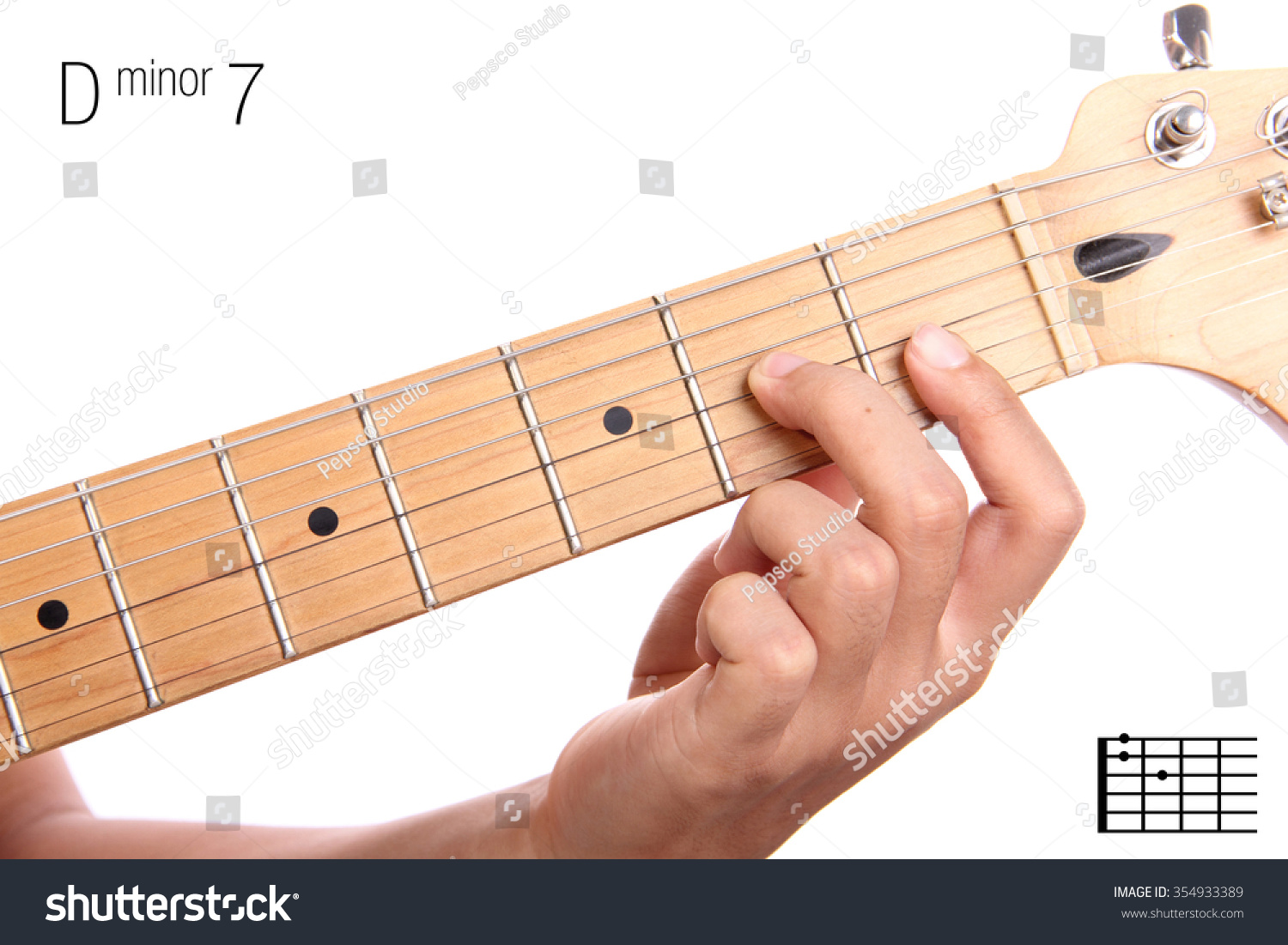 Royalty Free Dm7 Minor Seventh Keys Guitar 354933389 Stock Photo