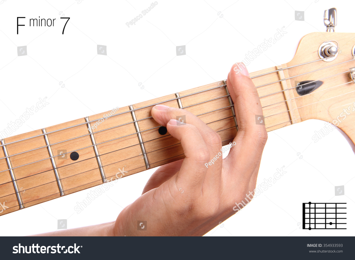 Fm7 minor seventh keys guitar tutorial stock photo 354933593 fm7 minor seventh keys guitar tutorial series closeup of hand playing f minor seventh hexwebz Choice Image