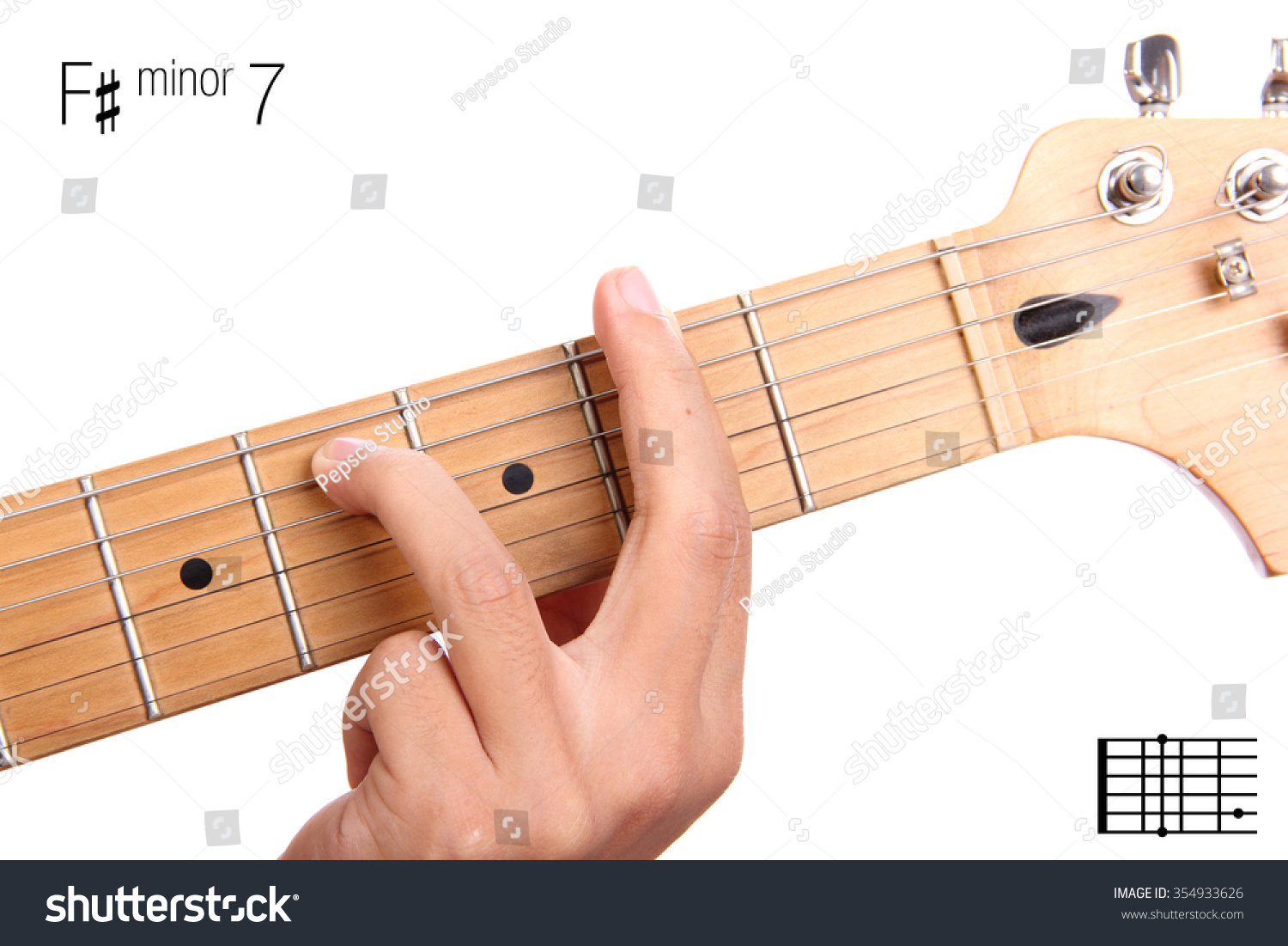 Fm7 minor seventh keys guitar tutorial stock photo 354933626 fm7 minor seventh keys guitar tutorial series closeup of hand playing f hexwebz Choice Image