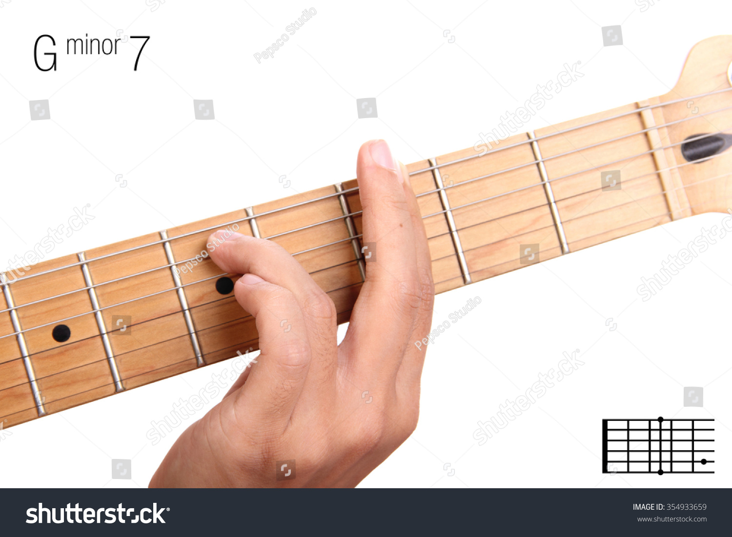 Royalty Free Gm7 Minor Seventh Keys Guitar 354933659 Stock Photo