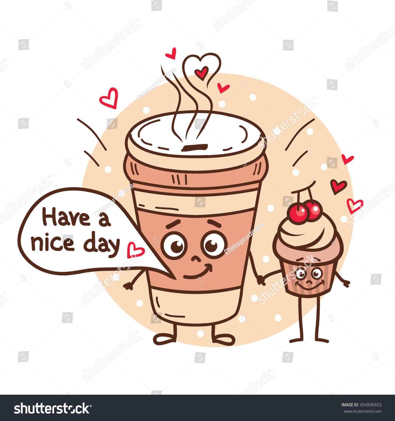 Cute Coffee Mugs Cute Coffee Cup Illustration Www Imgkid Com The Image