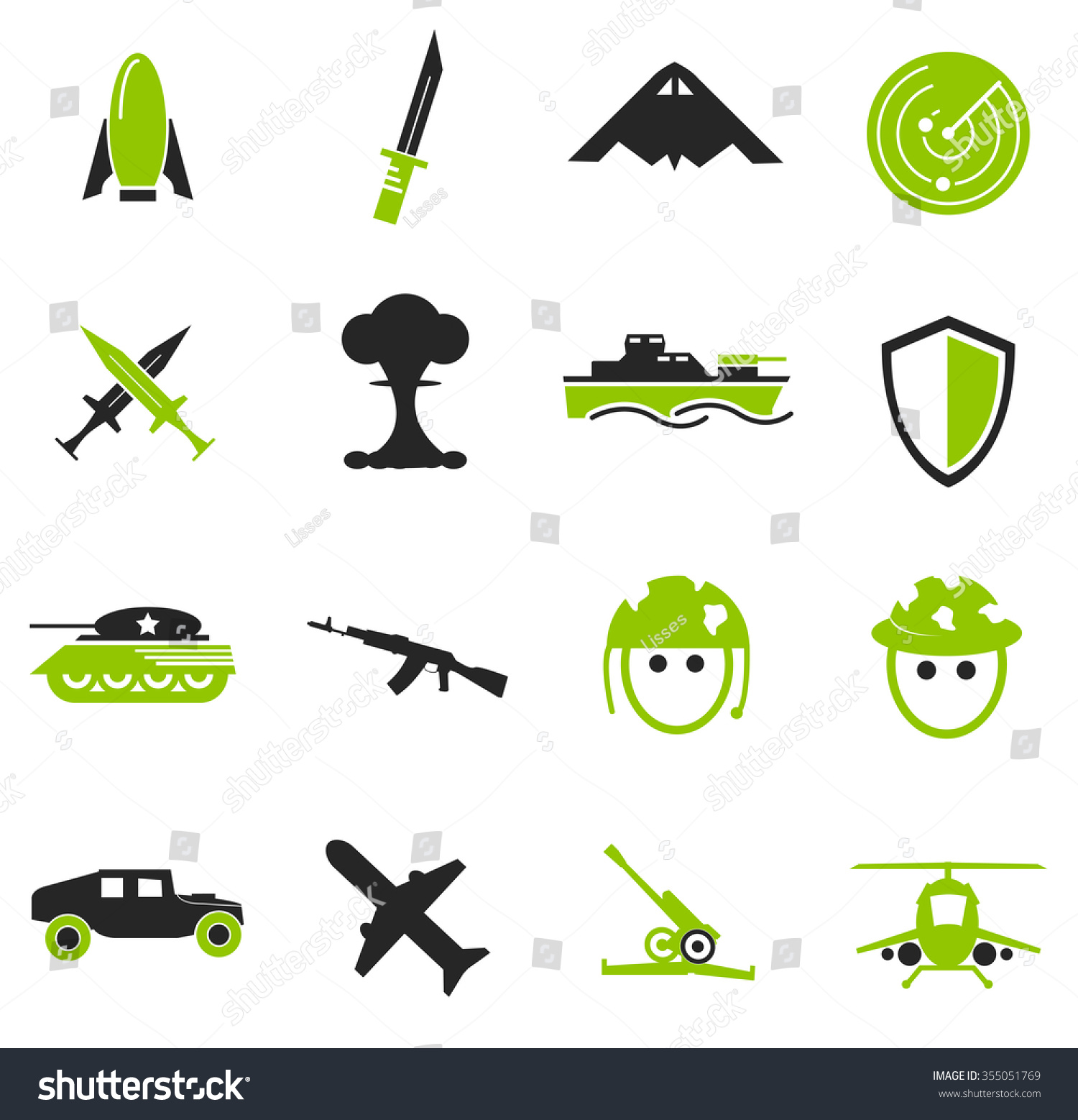 Military war symbol web icons stock vector 355051769 shutterstock military and war symbol for web icons biocorpaavc Images