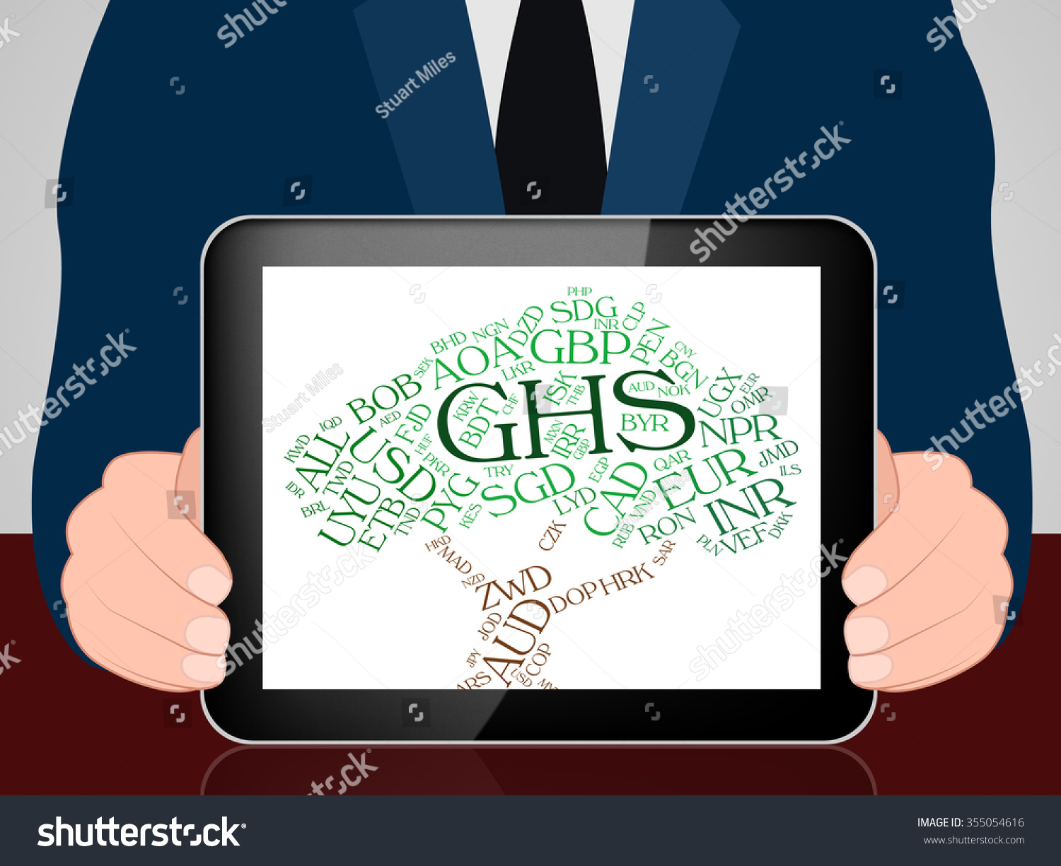 Ghs Currency Showing Ghana Cedis Ghanaian Stock Illustration