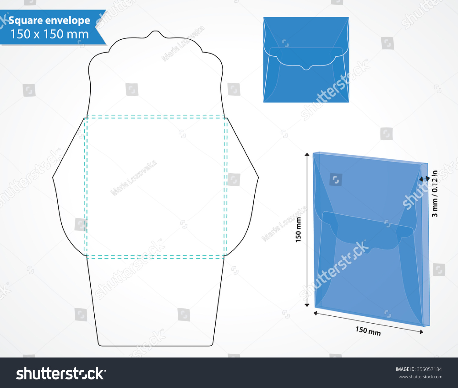 square envelope template die cut swirly stock vector 355057184 shutterstock. Black Bedroom Furniture Sets. Home Design Ideas