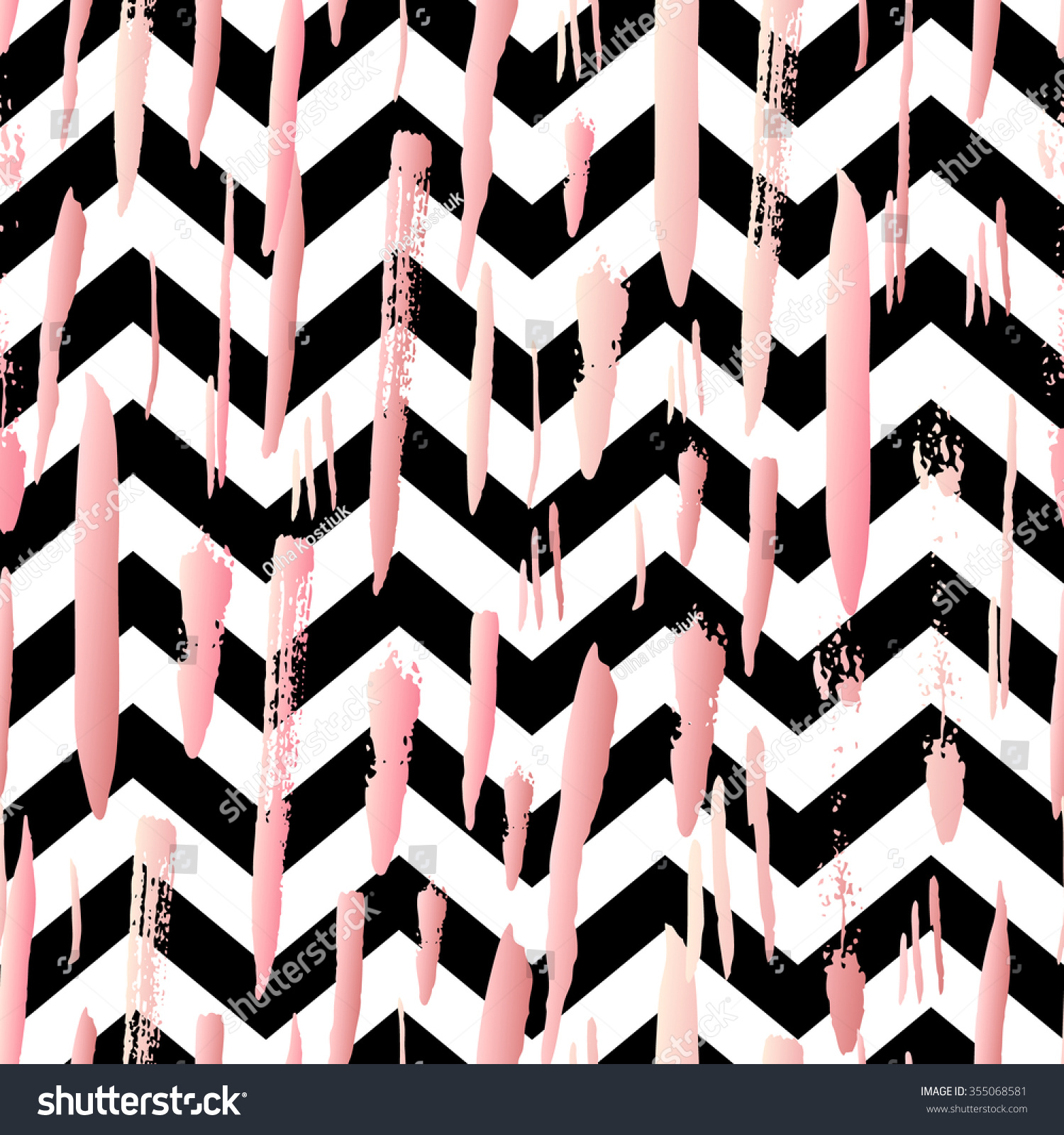 Black And Gold Chevron Background