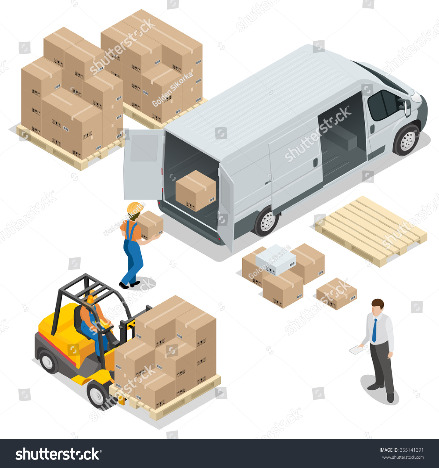 Warehouse Loading Unloading Warehouse Delivery Logistic