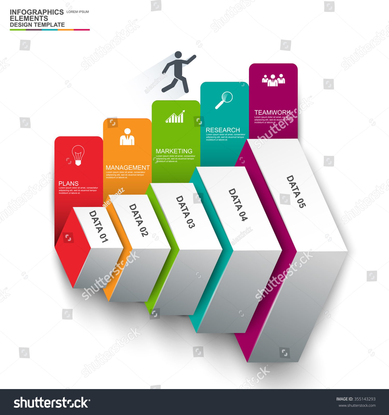Abstract D Digital Business Infographic Can Stock Vector - Digital business plan template