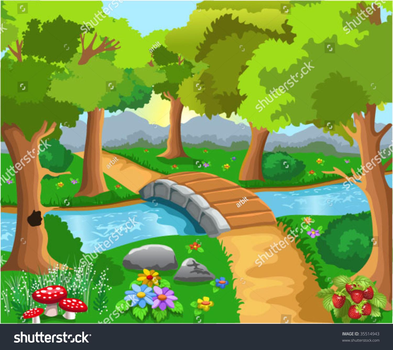 Cartoon Forest Stock Vector Illustration 35514943 ...
