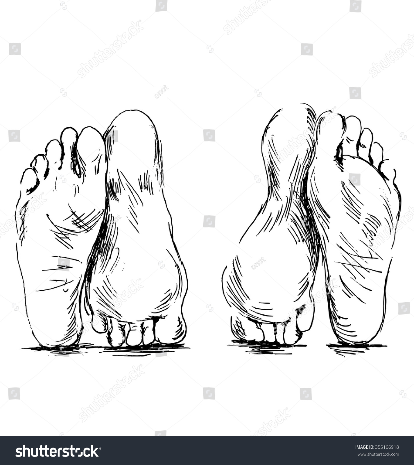 Hand sketch couple of feet having sex 355166918