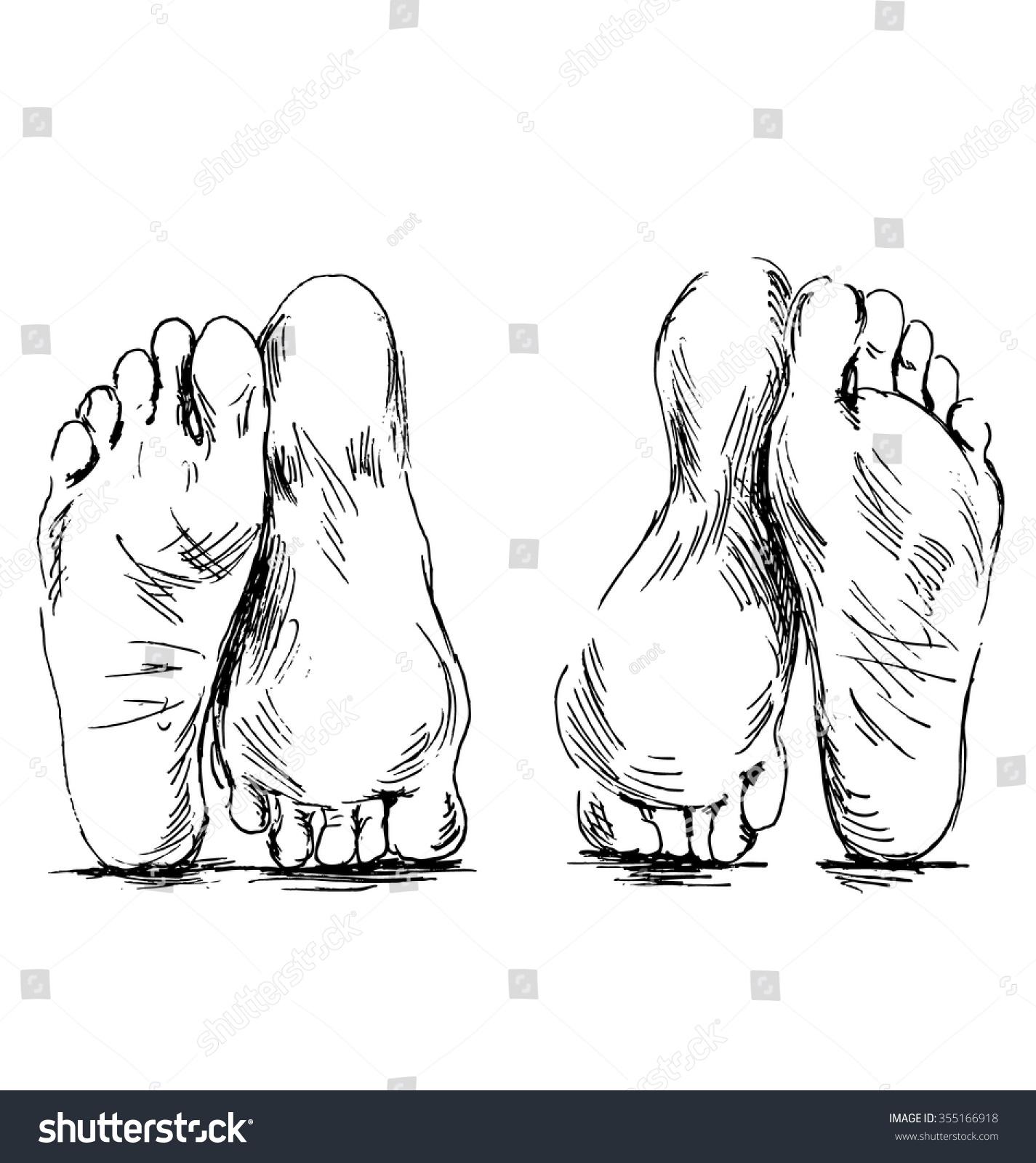 Hand sketch couple of feet having sex 355166918