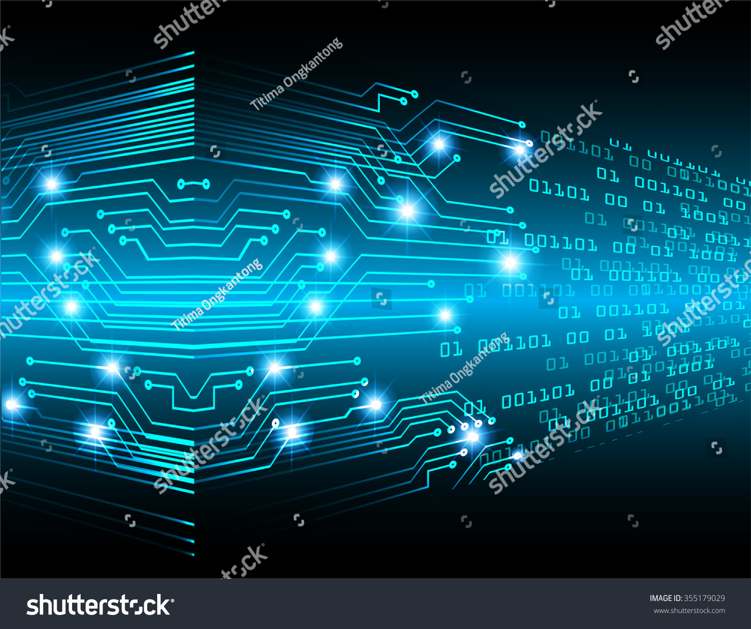 Circuit Board Pattern Abstract Technology Circuit Board Vector