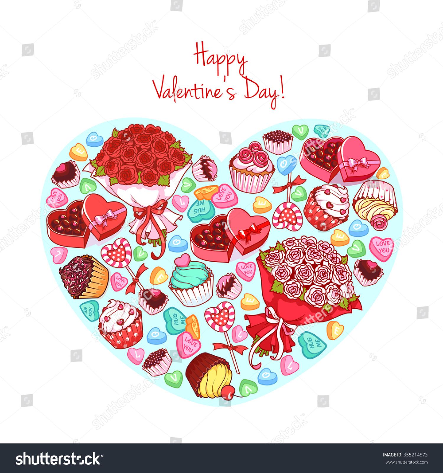 Greeting Card St Valentines Day Big Vector 355214573 – Big Valentine Card