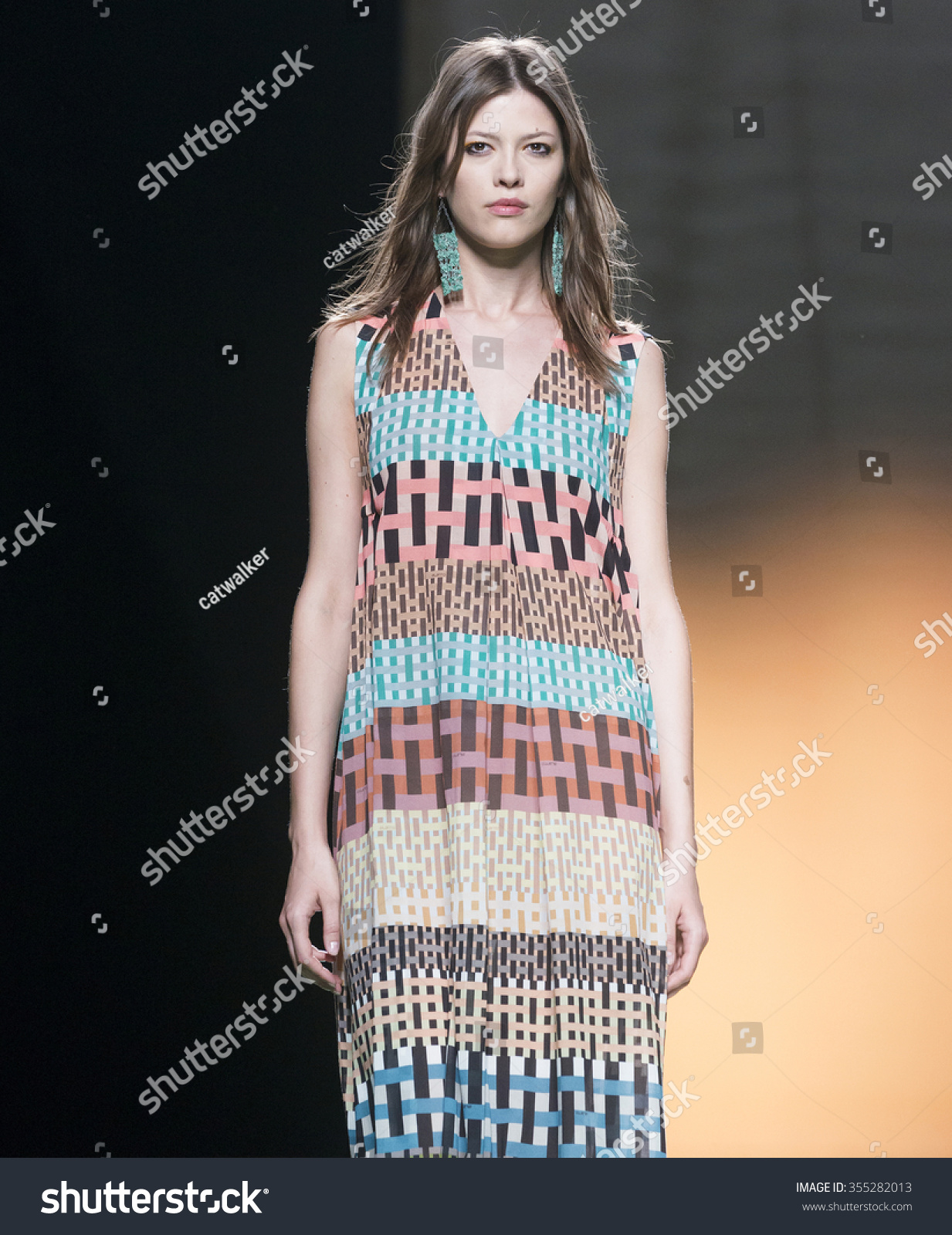 MADRID SEPTEMBER 18 a model walks on the Ailanto catwalk during the Mercedes-Benz Fashion Week Madrid Spring Summer 2016 runway on September 18 2015 in Madrid