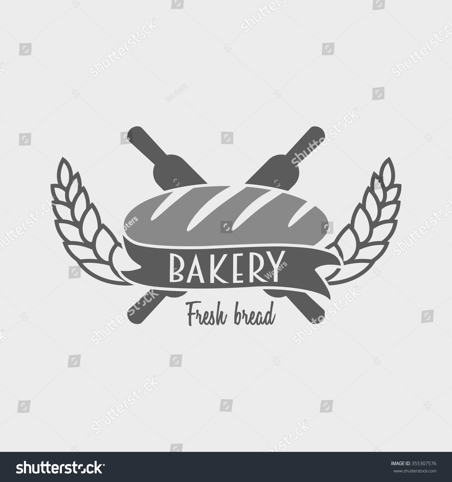 Vintage bakery label badge logo concept stock illustration vintage bakery label badge or logo concept can be used to design business cards reheart Choice Image