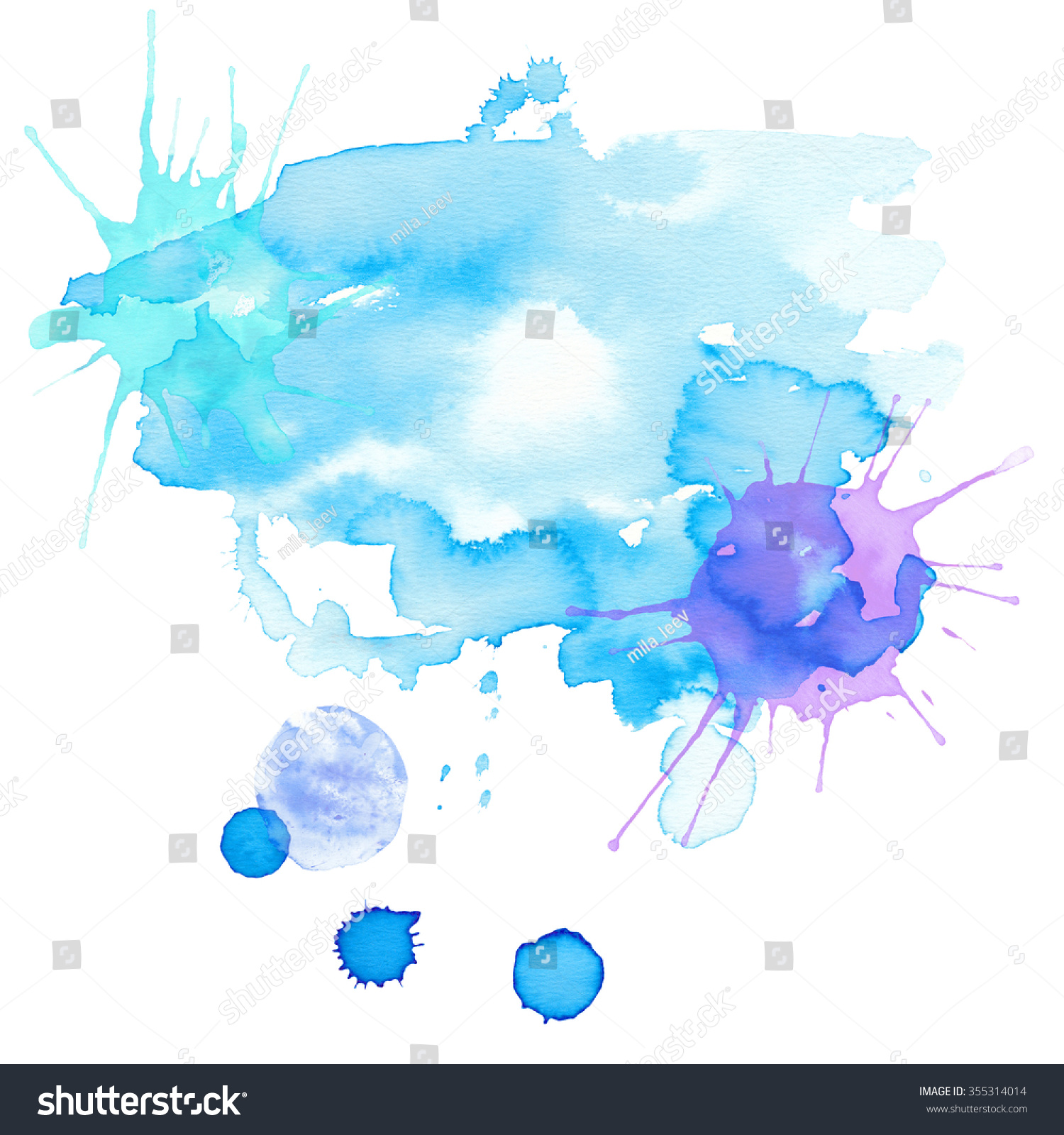 Watercolor Abstract Background Hand Drawn Paint Stock Illustration 355314014 Shutterstock