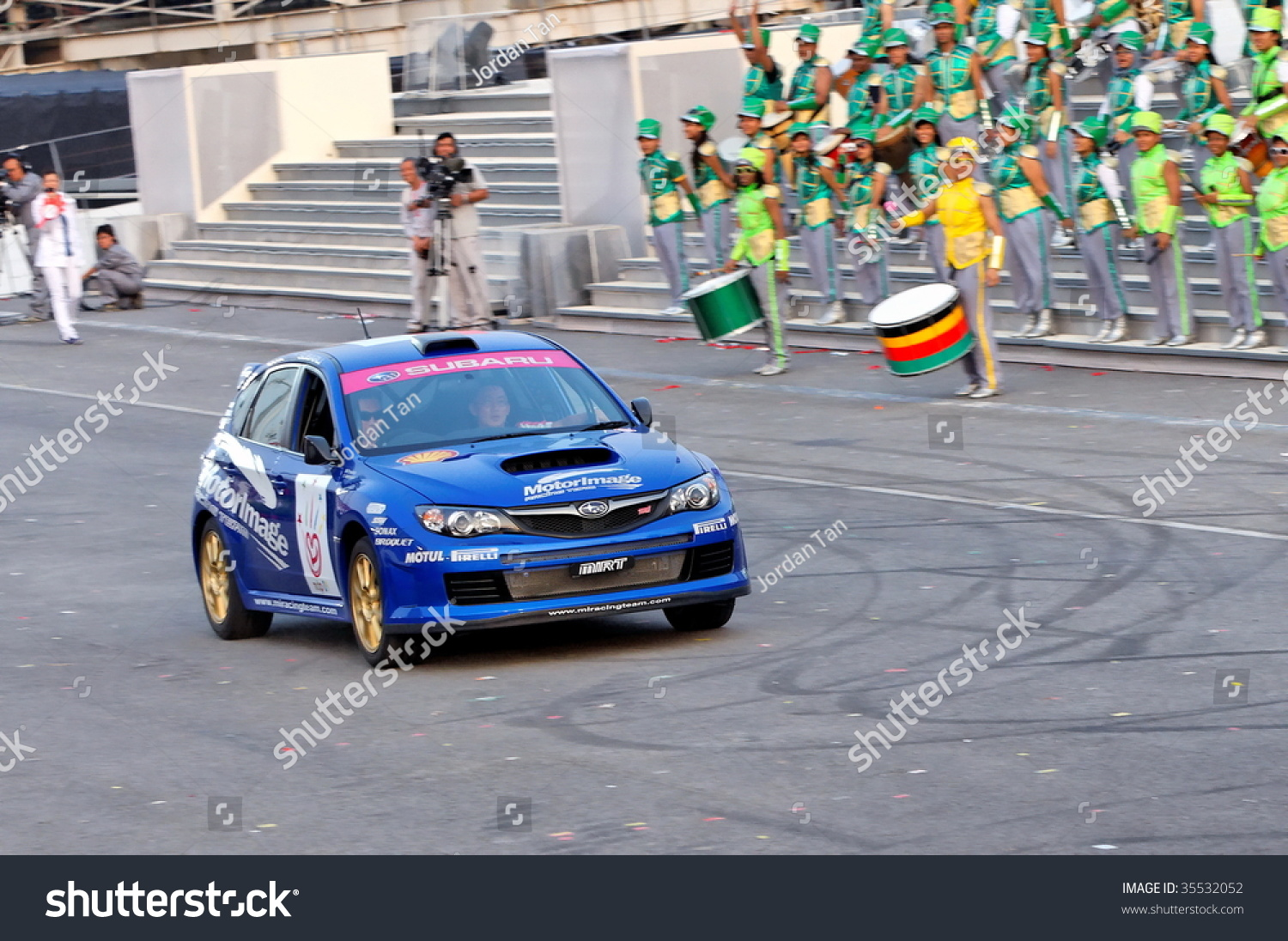 SINGAPORE AUGUST 09 Subaru WRX Rally Stock Photo (Royalty Free ...