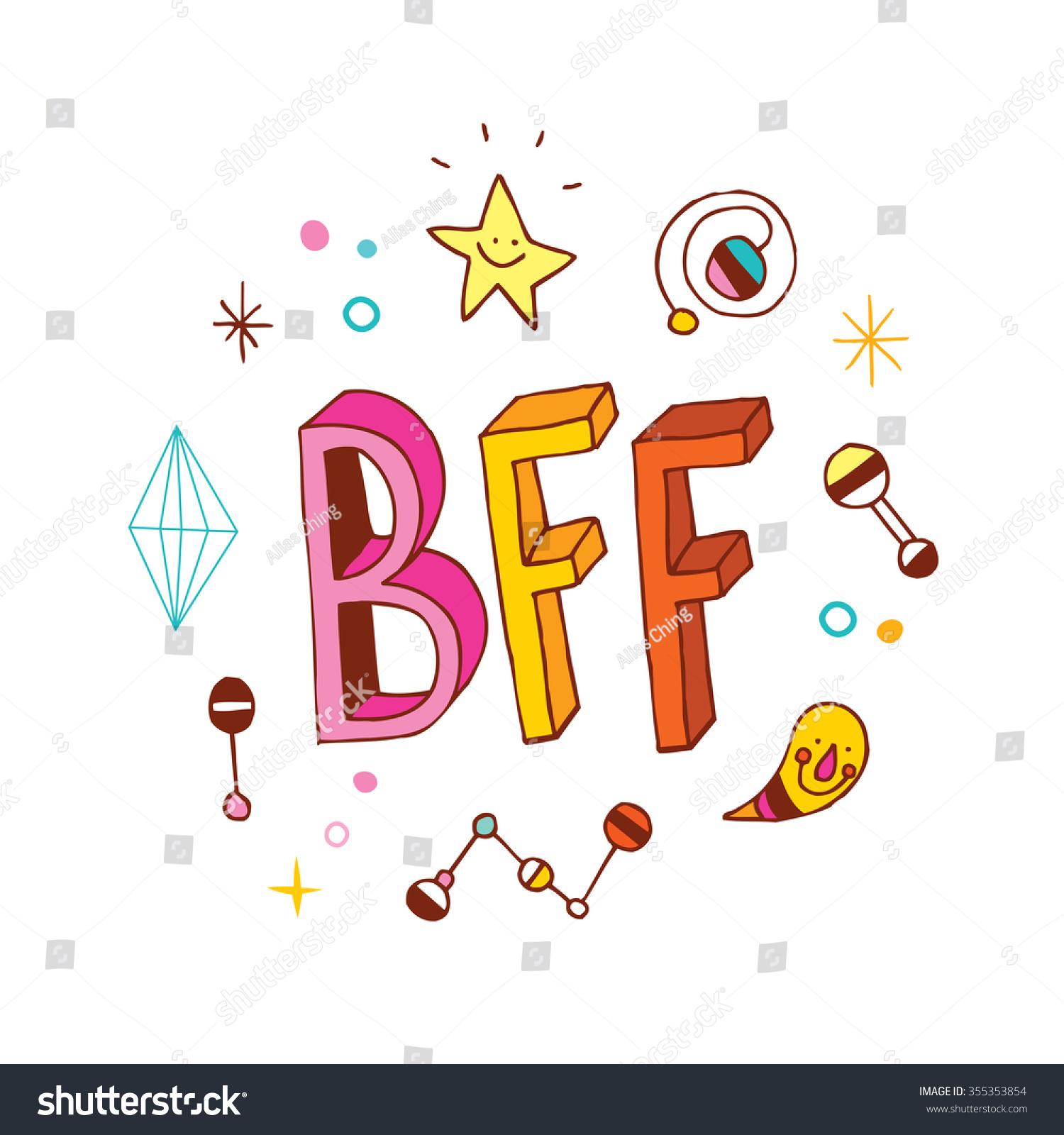 Best Friends Forever Stock Vector Illustration
