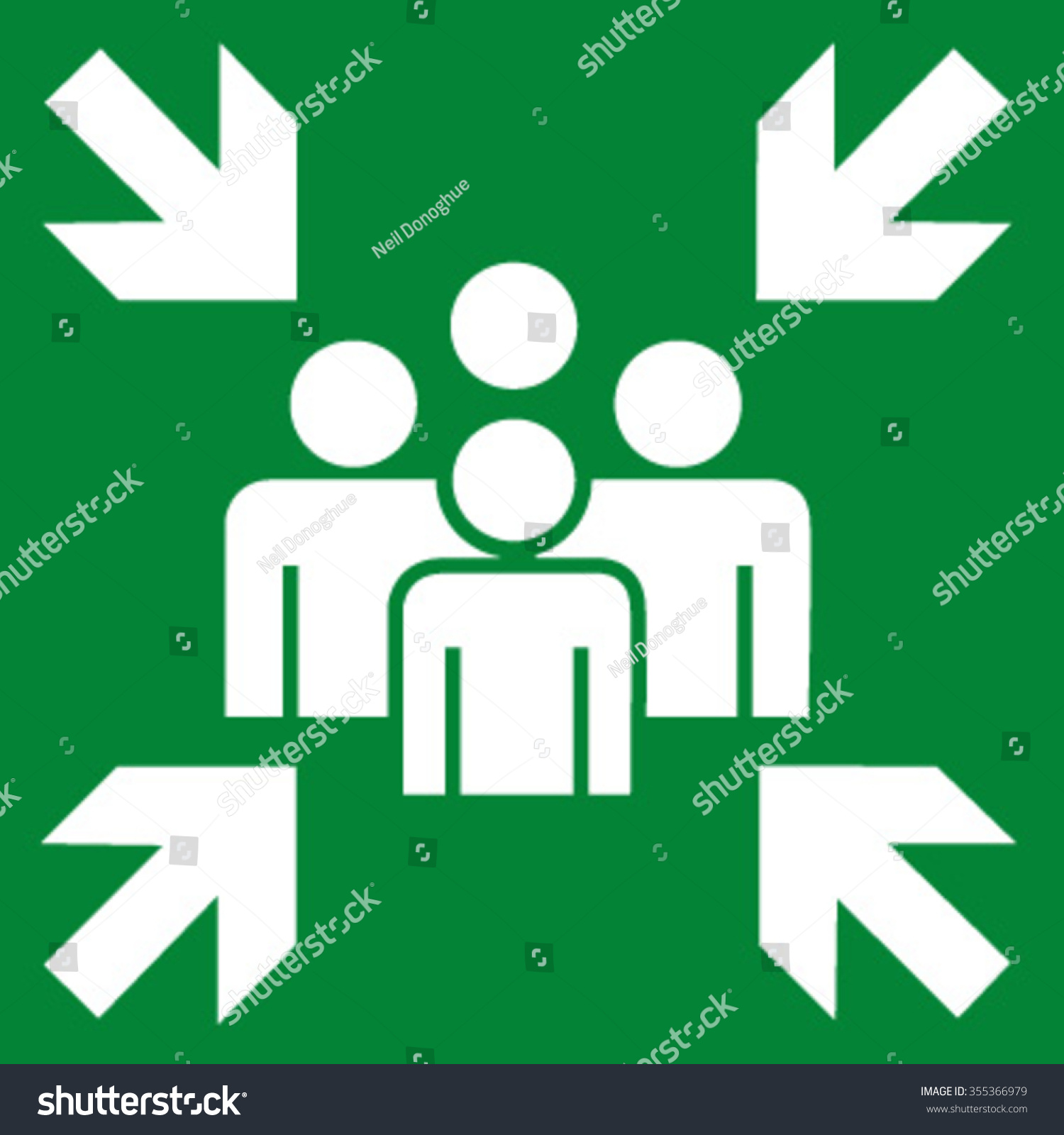Royalty Free Fire Evacuation Meeting Point 355366979 Stock Photo
