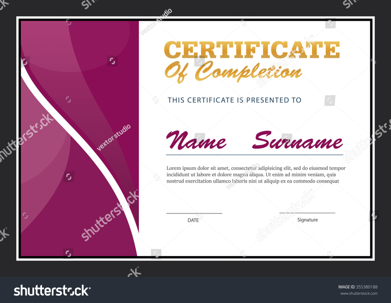 A4 Size Certificate Templates