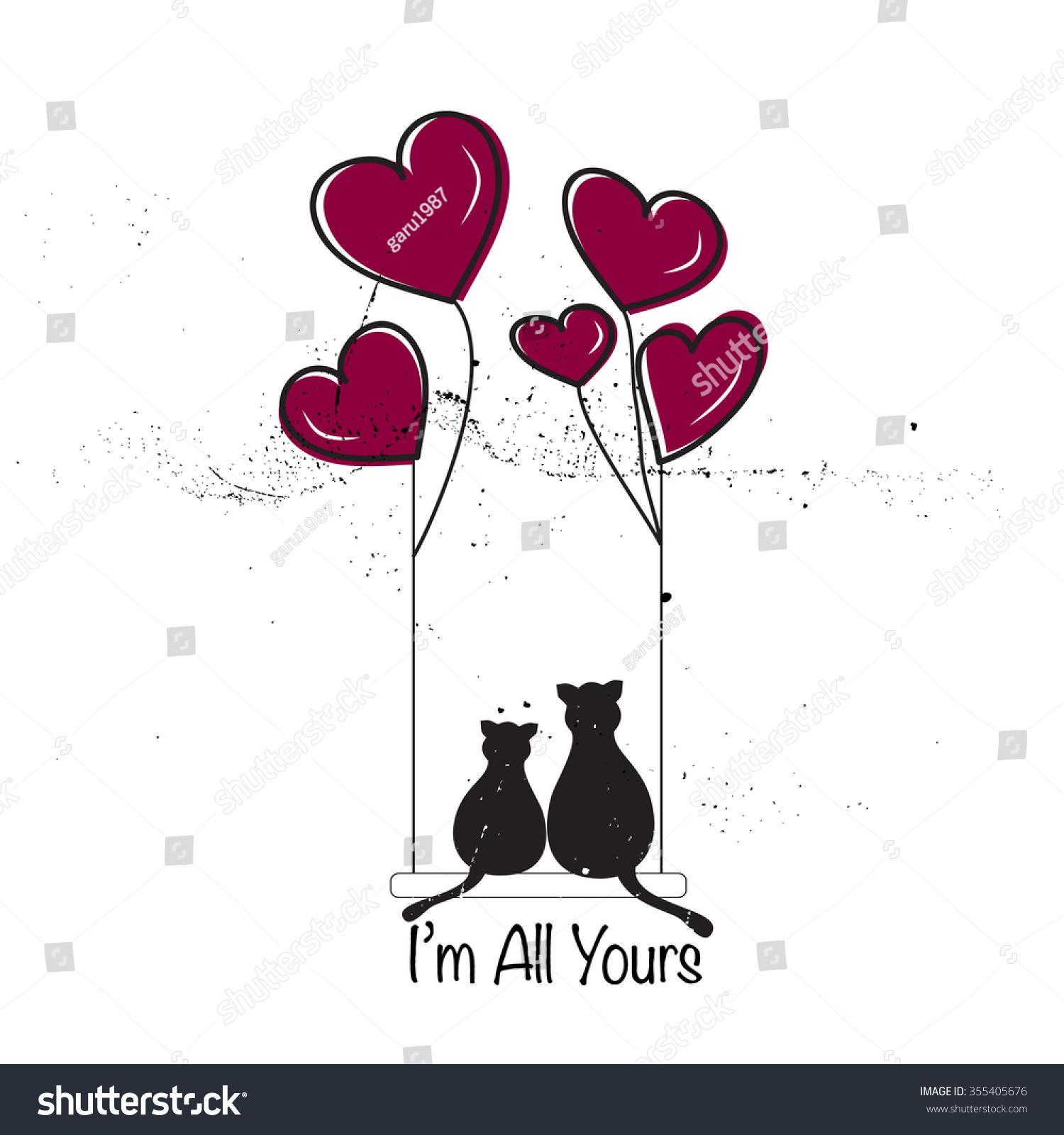 San Valentine Card Vector 355405676 Shutterstock – Saint Valentine Card
