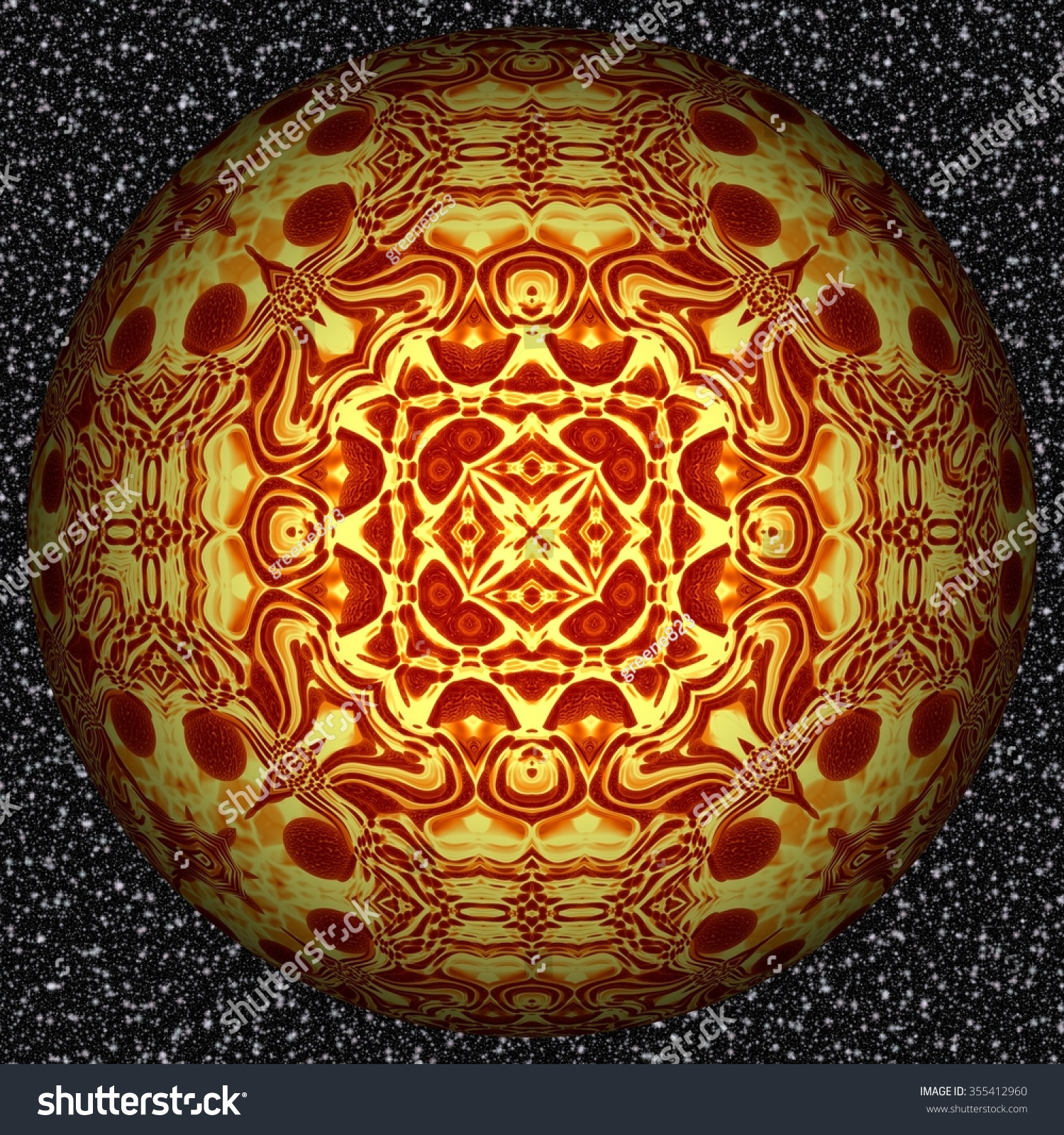 Abstract decorative sphere ball pattern stock
