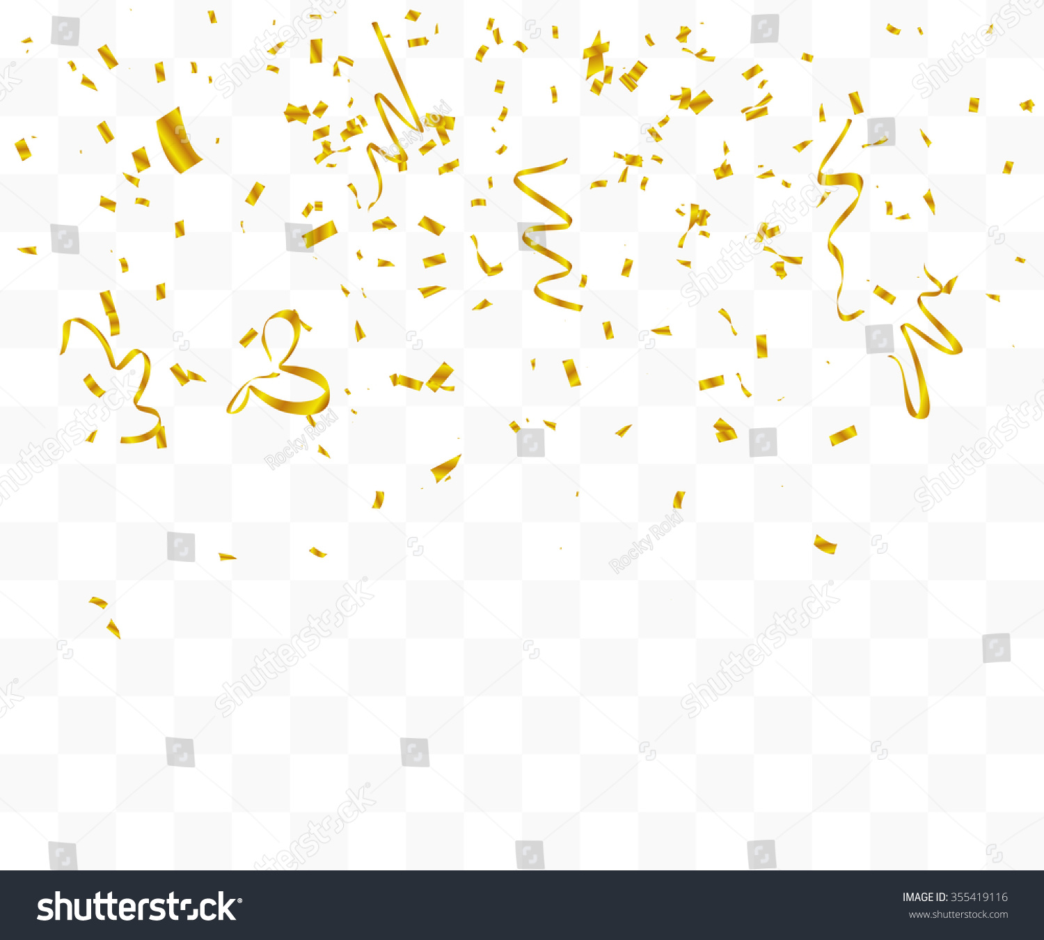 gold confetti falling abstract background many falling gold tiny stock vector 4276