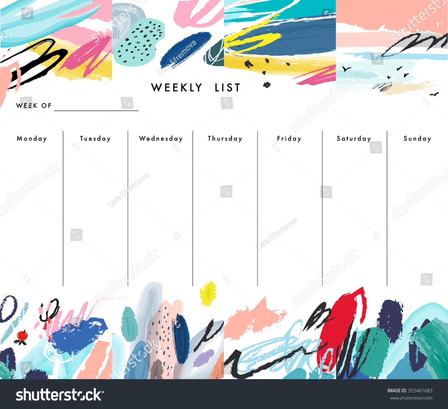 Doc1000765 Weekend Schedule Template Free Weekly Schedule – Weekend Schedule Template
