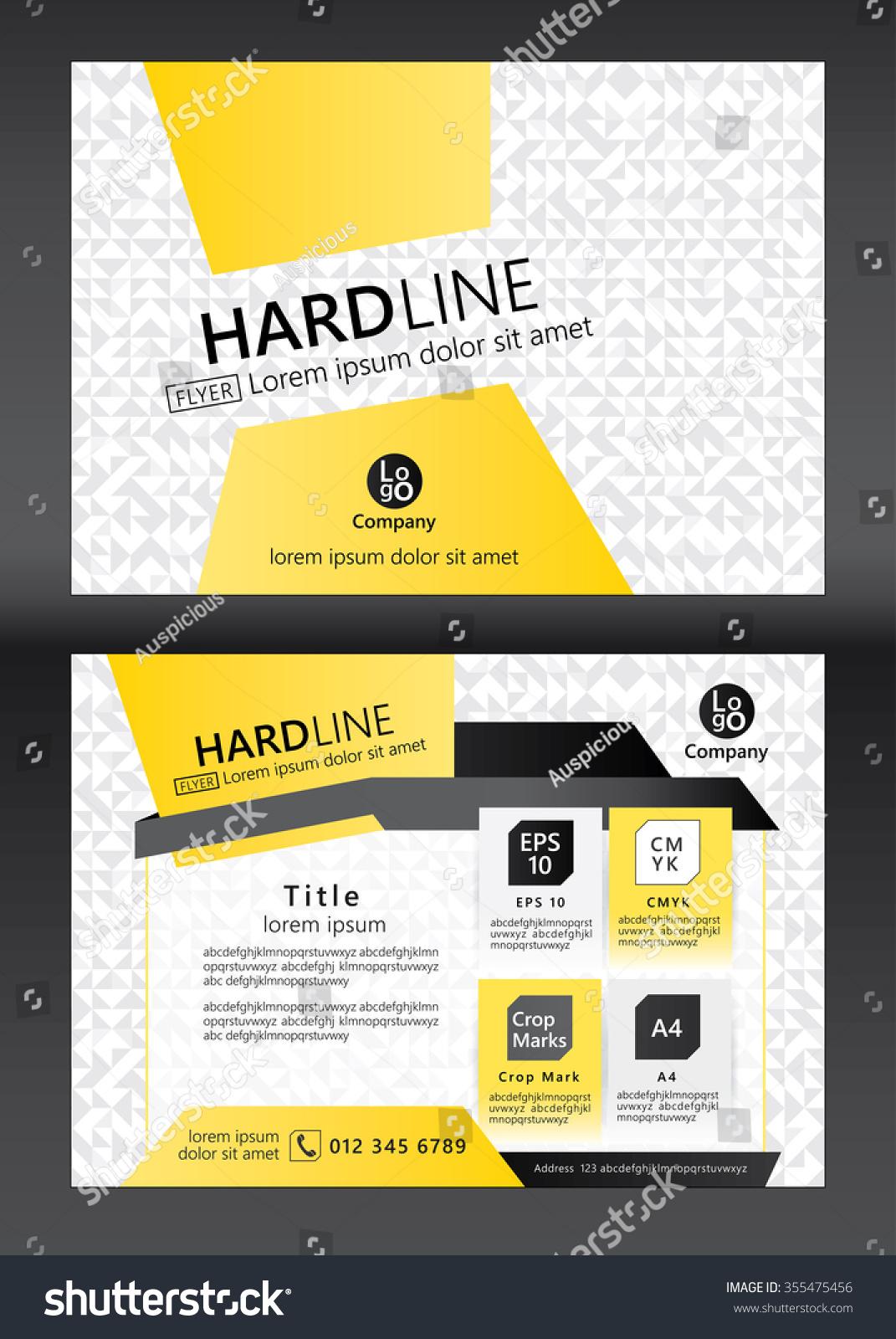 Brochure Flyer Template Design Geometric Pattern Vector de ...