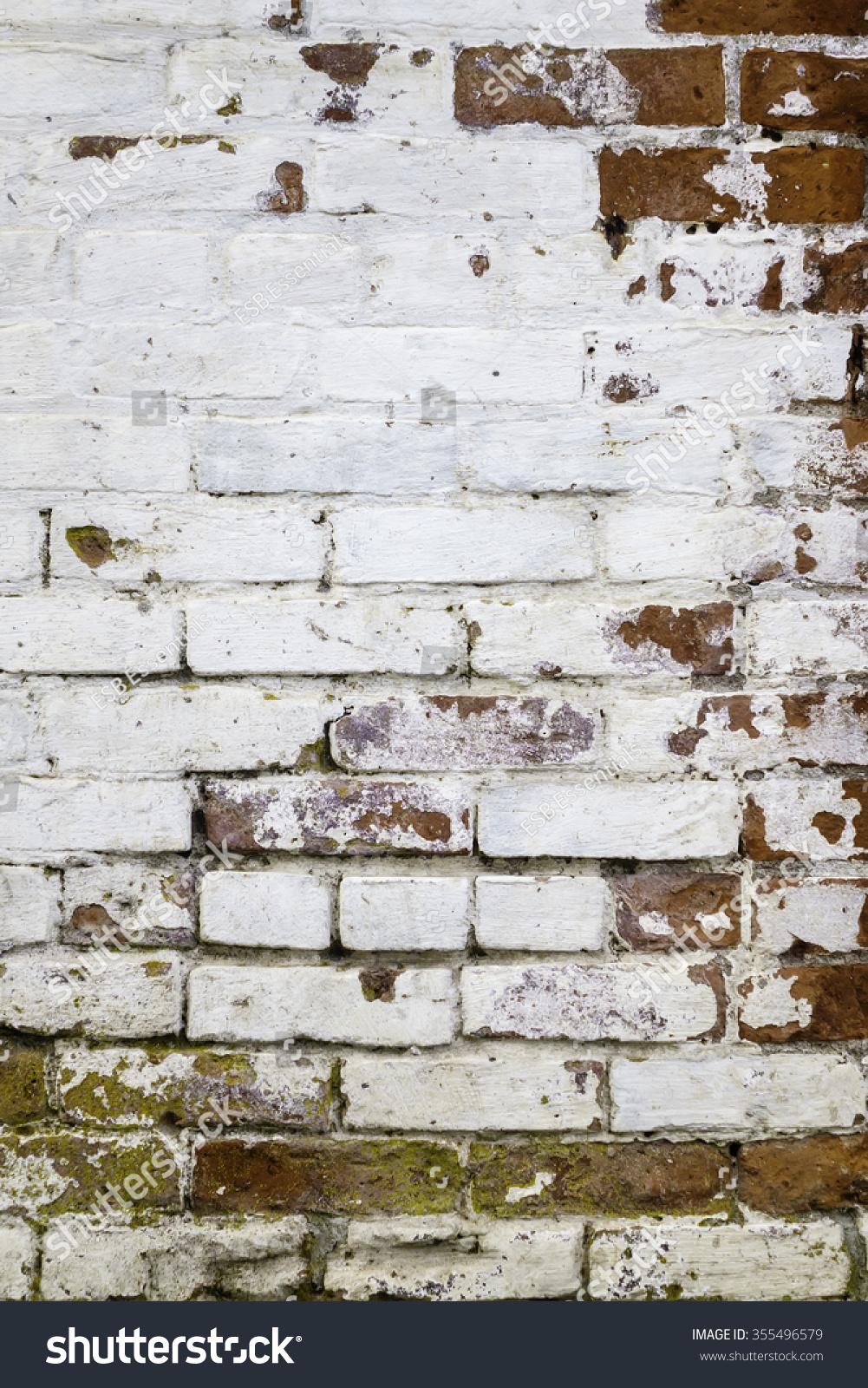 Urban Grunge Detail Whitewashed Exterior Brick Stock Photo Edit Now 355496579