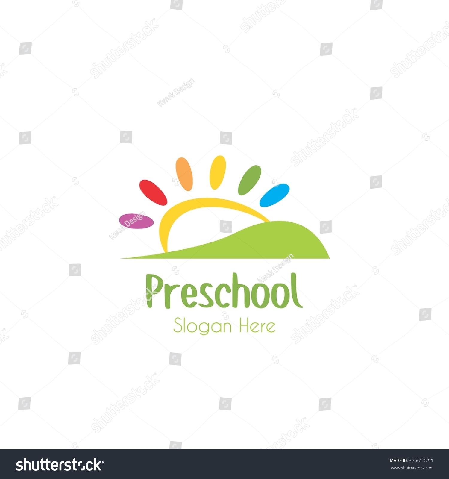 preschool logos playgroup preschool kindergarten logo template stock 110