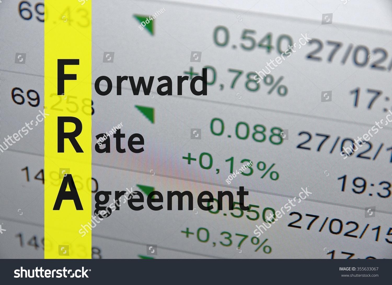 Acronym Fra Forward Rate Agreement Stock Illustration 355633067