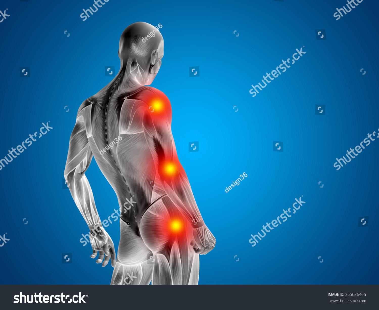 Royalty Free Stock Illustration of Conceptual 3 D Human Man Anatomy ...
