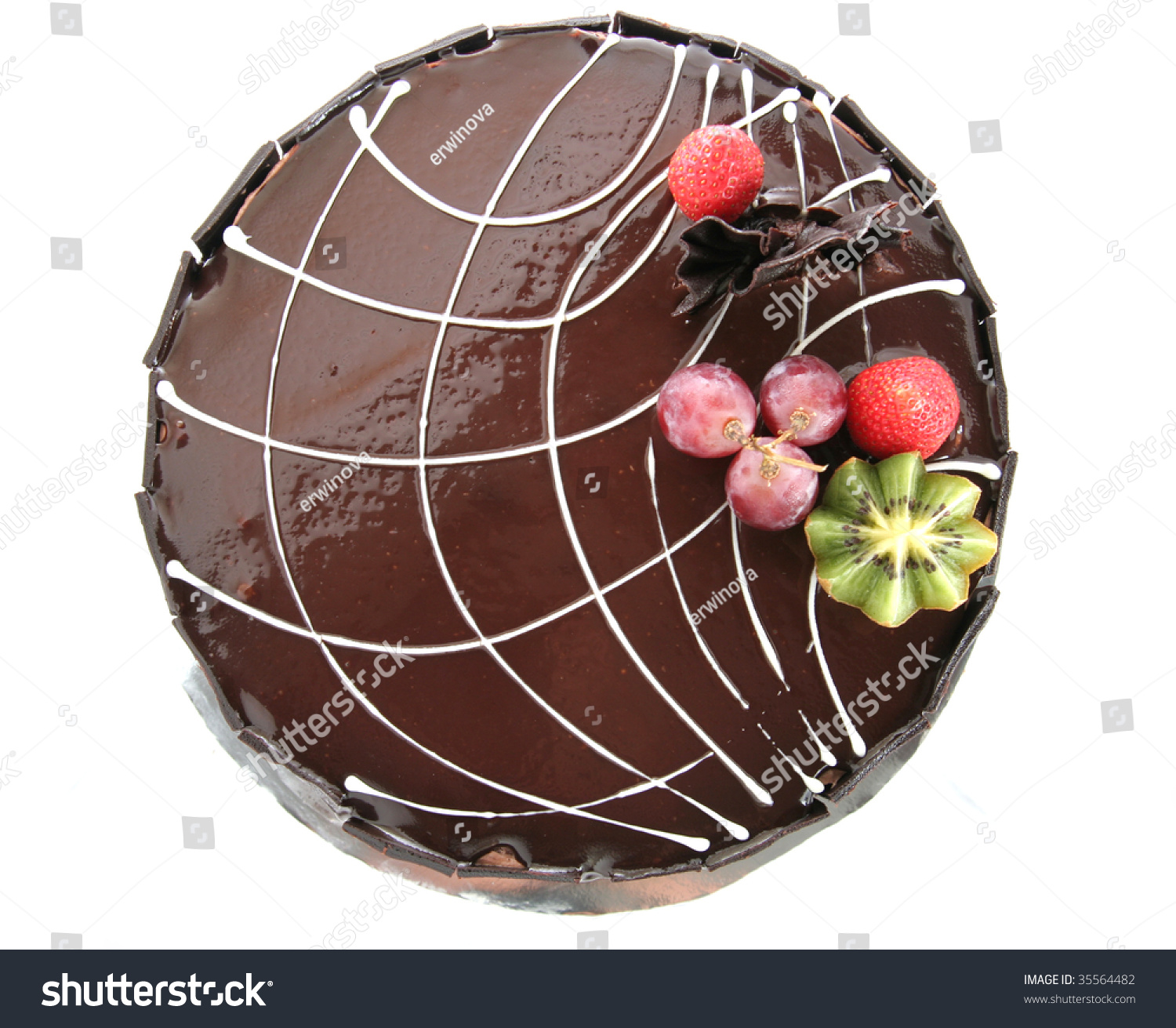 Cake Images Top View : Choclate Cake Top View Stock Photo 35564482 : Shutterstock