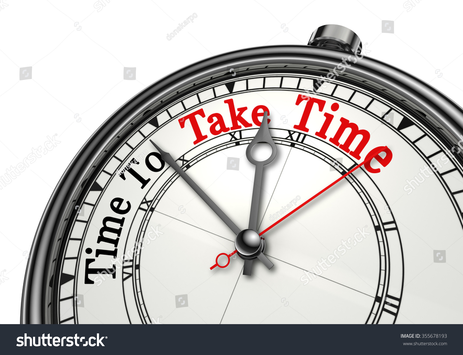 Time Take Time Red Word On Stock Illustration 355678193 - Shutterstock