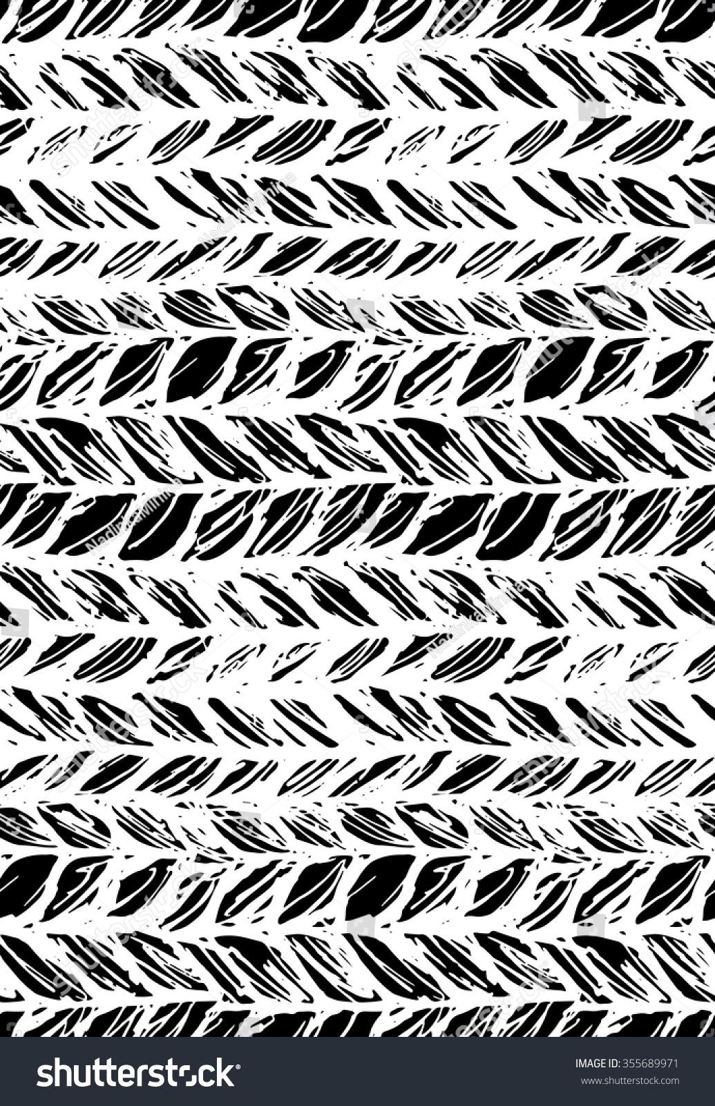 Knitting Texture Drawing : Seamless pattern of knitting braids hand draw stylized