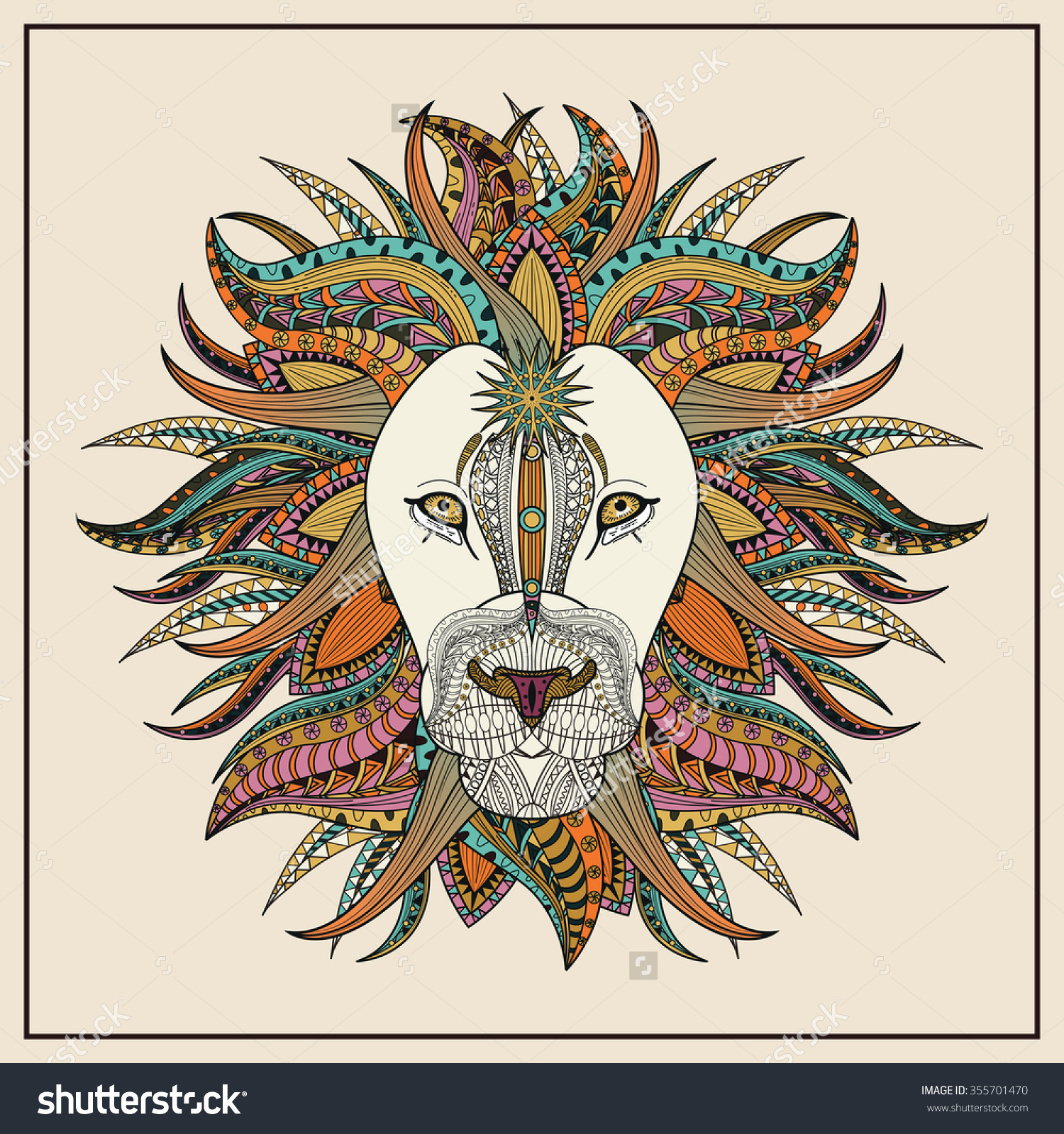 Lion colorings - Imposing Lion Coloring Page In Exquisite Line