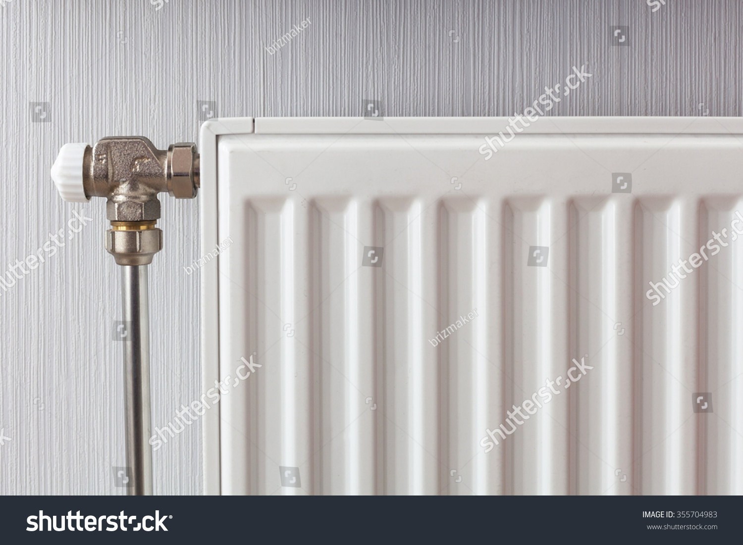 Heating White Radiator Adjuster Warming Living Stock Photo (100 ...