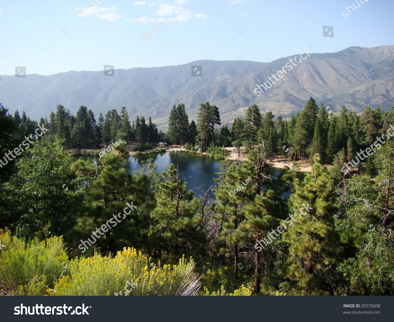 Jenks Lake In The Southern California Mountains Stock Photo ...