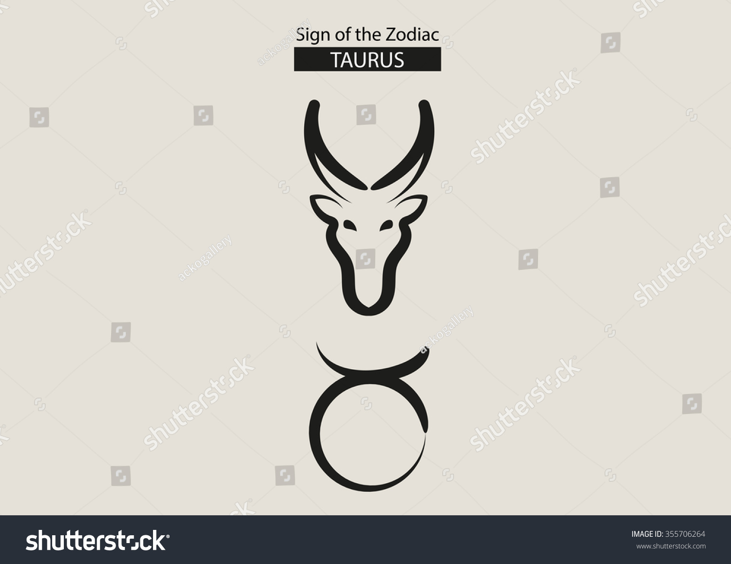 Sign of the zodiac calligraphy vector symbol