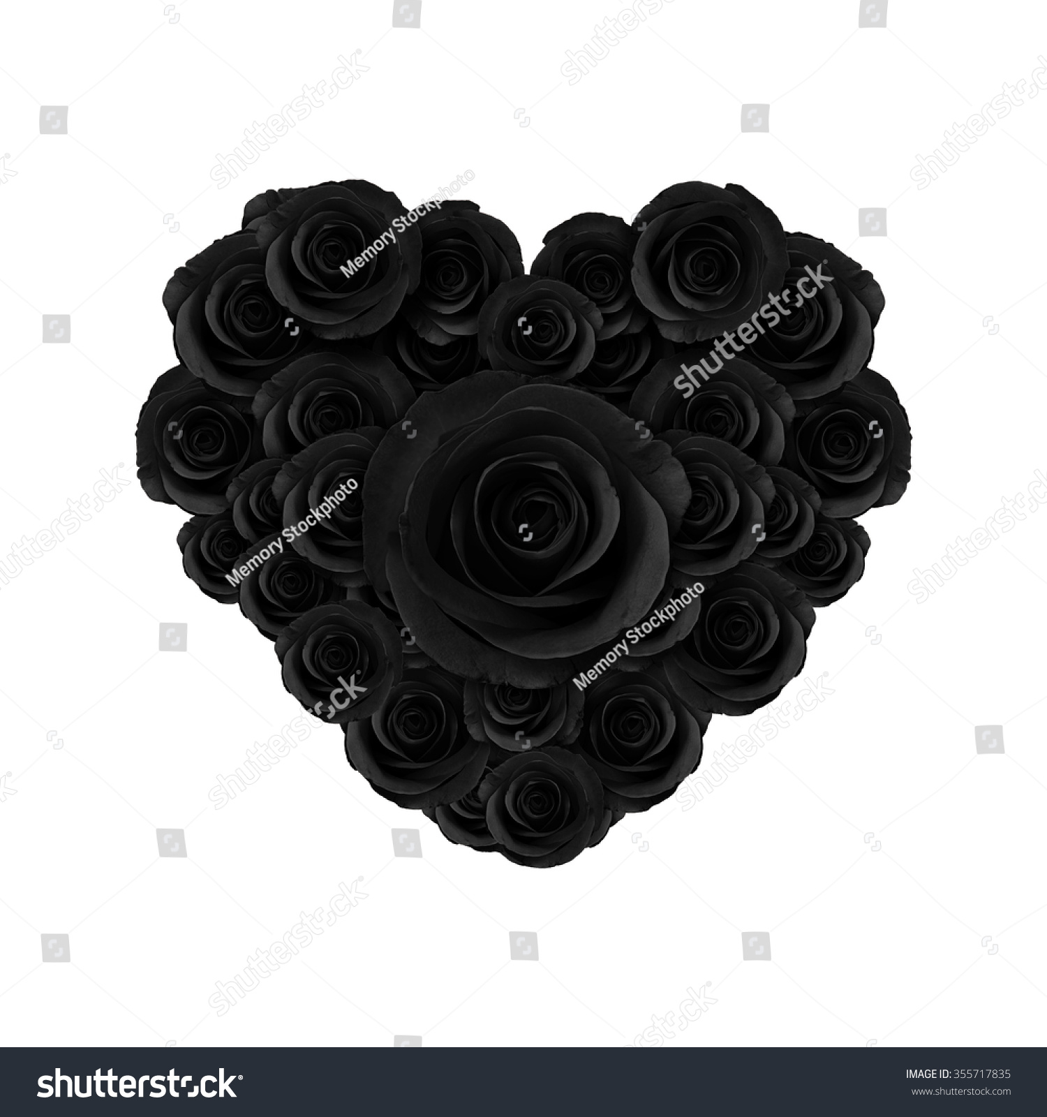 Heart beautiful black roses flower happy stock illustration heart of beautiful black roses flower happy valentine day izmirmasajfo