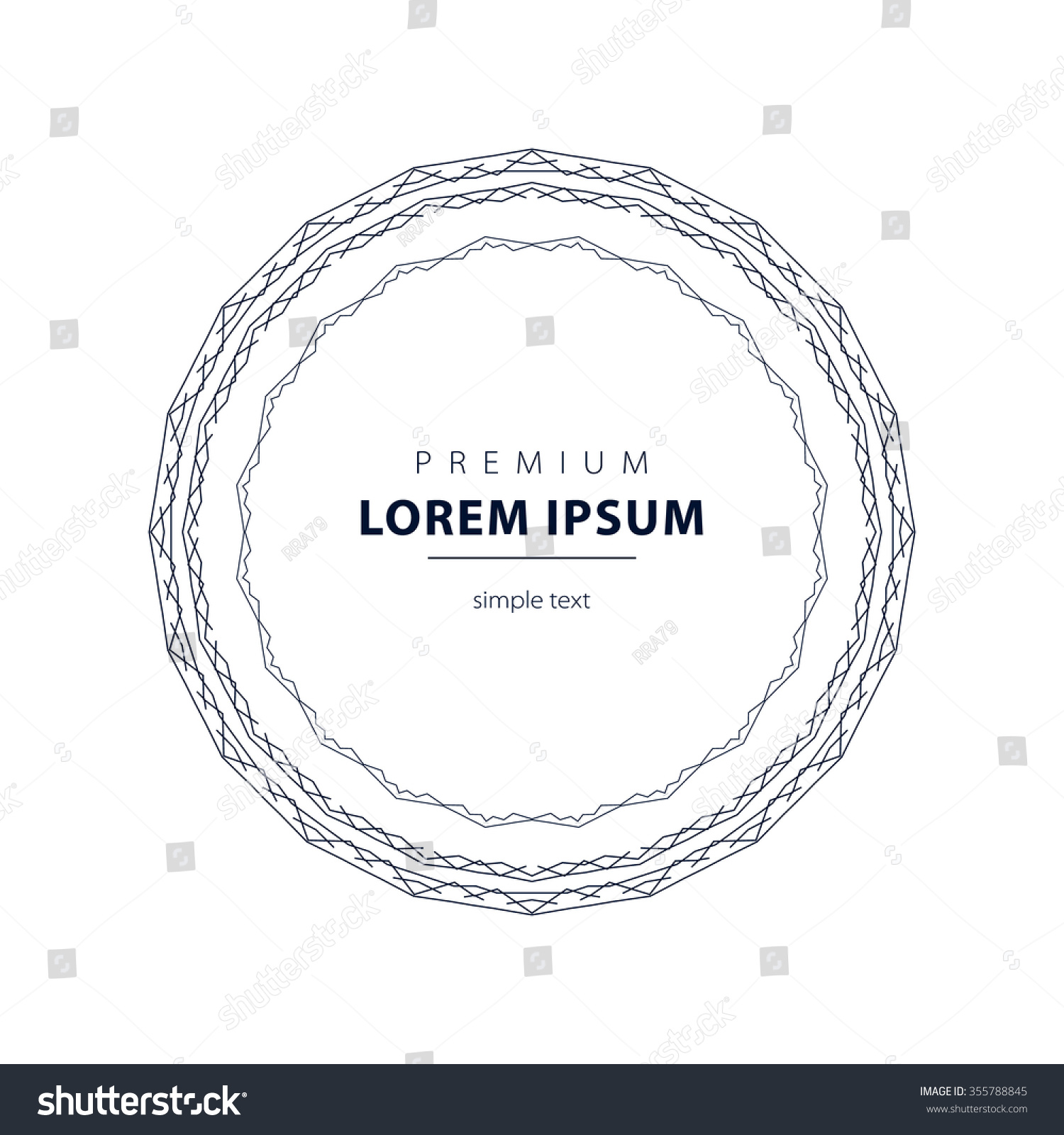 outline emblems badges abstract logo templates stock illustration