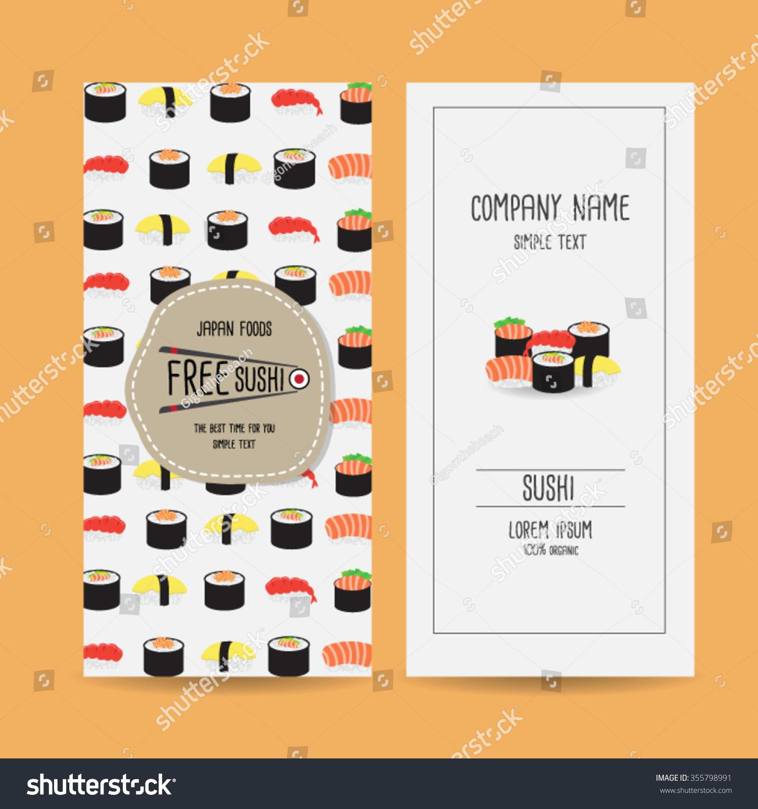 Set Japan Food Voucher Template Design Vector 355798991 – Food Voucher Template
