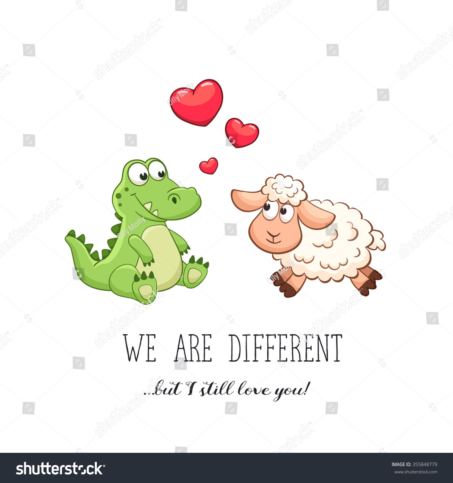 Valentineu0027s Day. Funny Greeting Card. We Are Different But