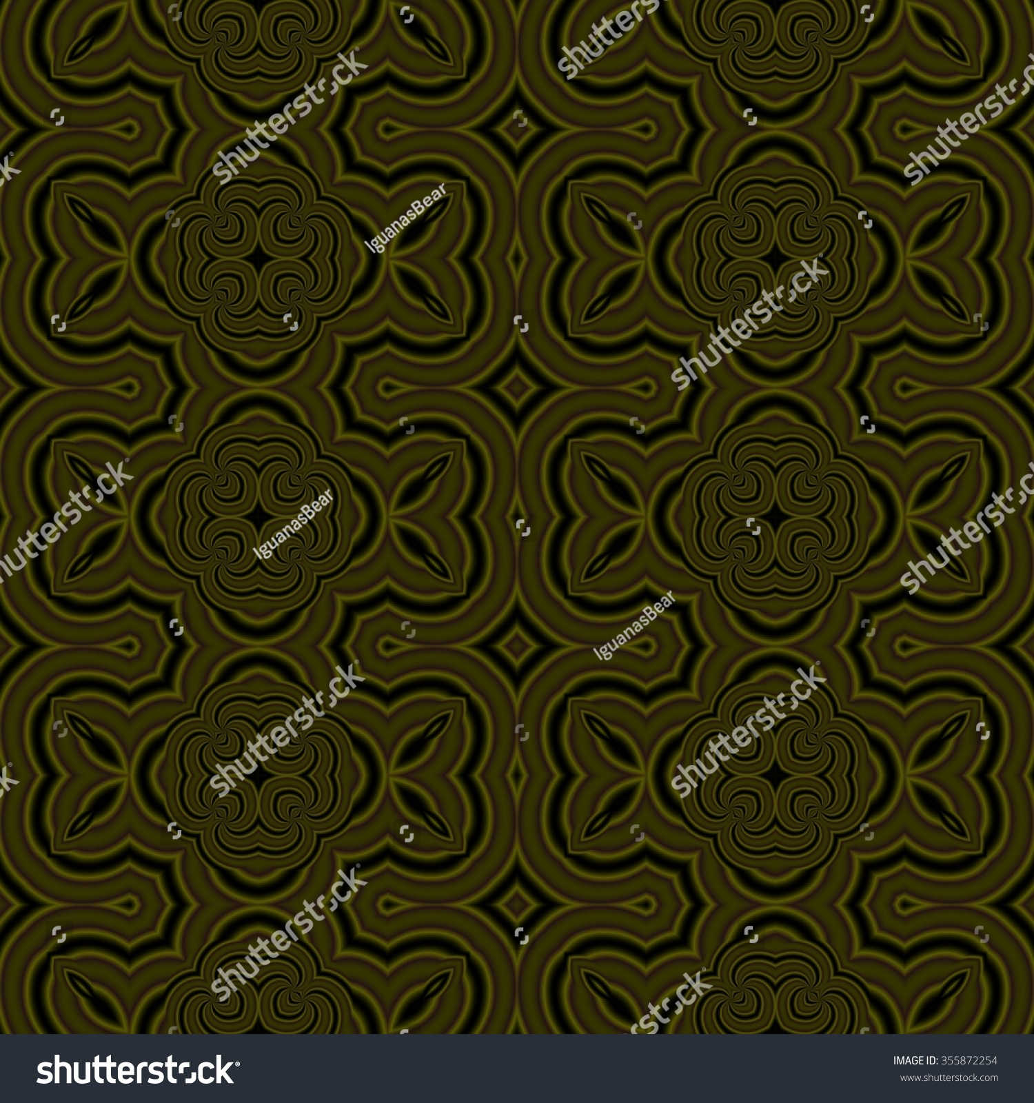 Abstract Geometric Kaleidoscopic Fractal Mirroring Tile Able Pattern