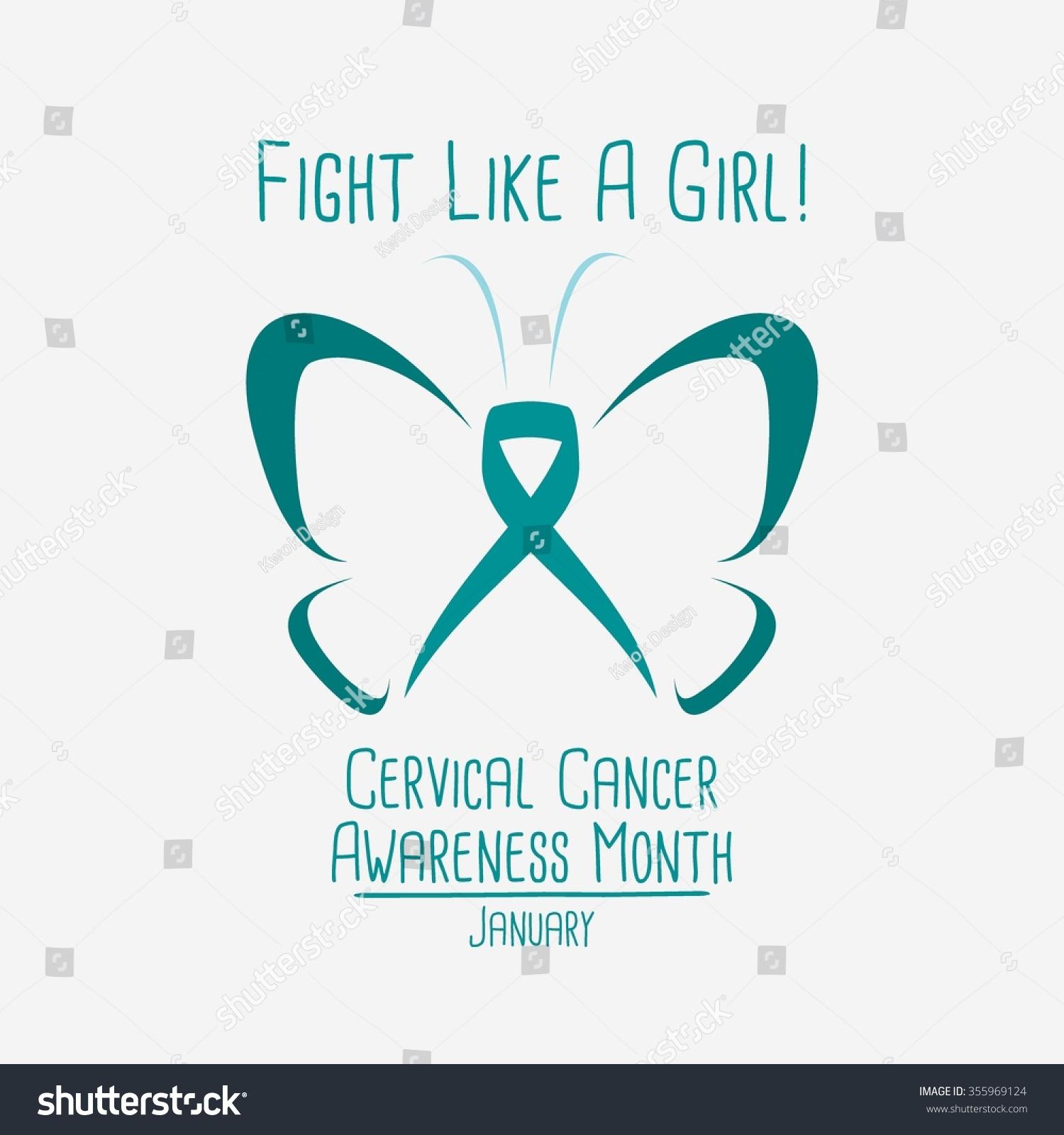 cervical cancer awareness logo vector illustration stock vector
