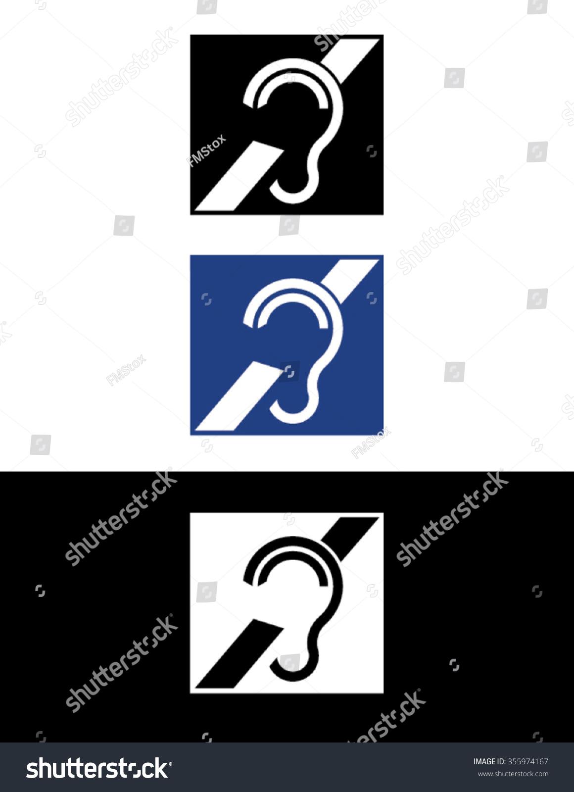 Vector Hearing Impaired Symbol Set Stock Vector 355974167 Shutterstock