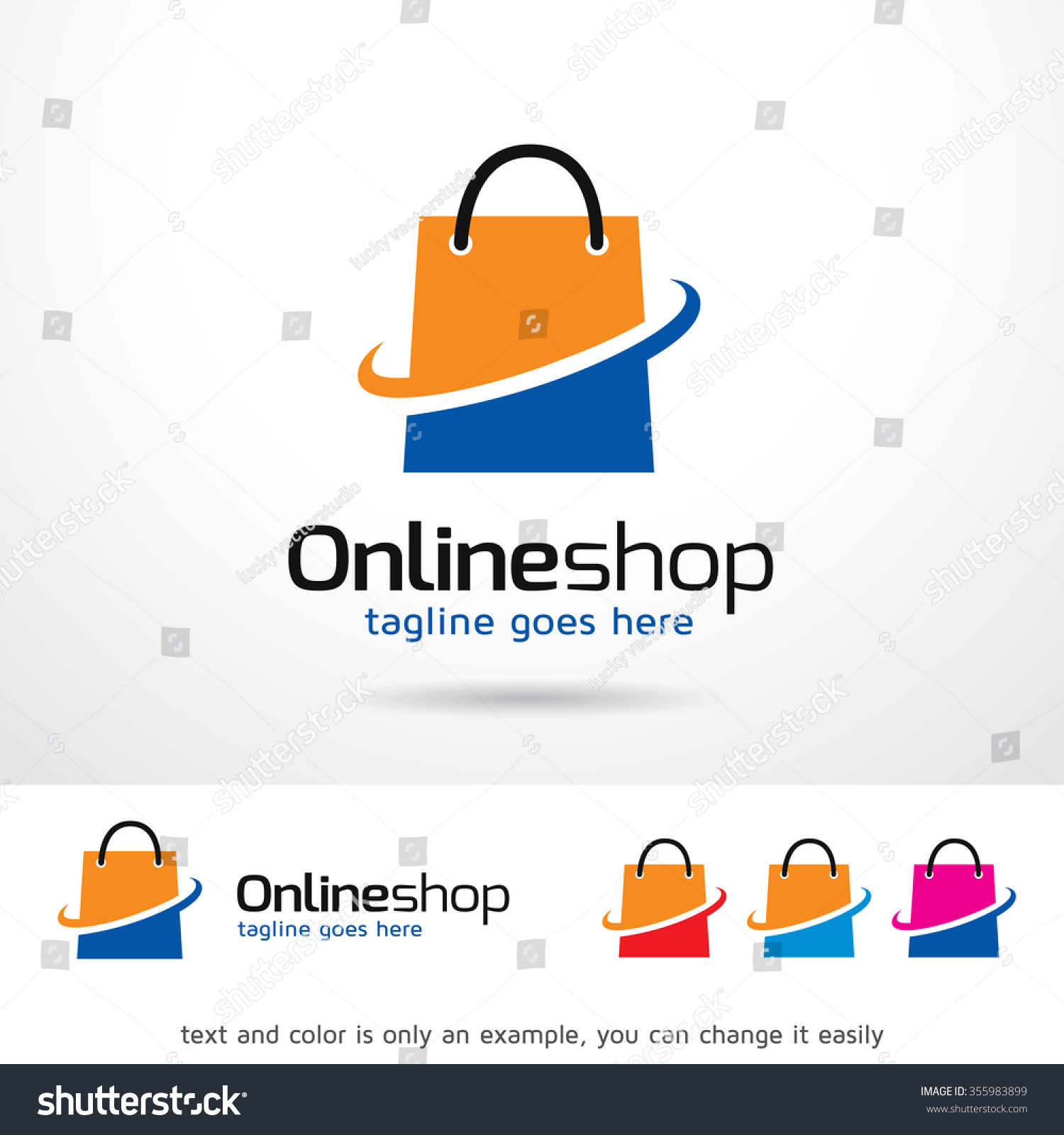 Online Shop Logo Template Design Vector Stock Vector